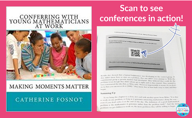 An awesome mentor text for math conferences - includes links to videos with conferences in action