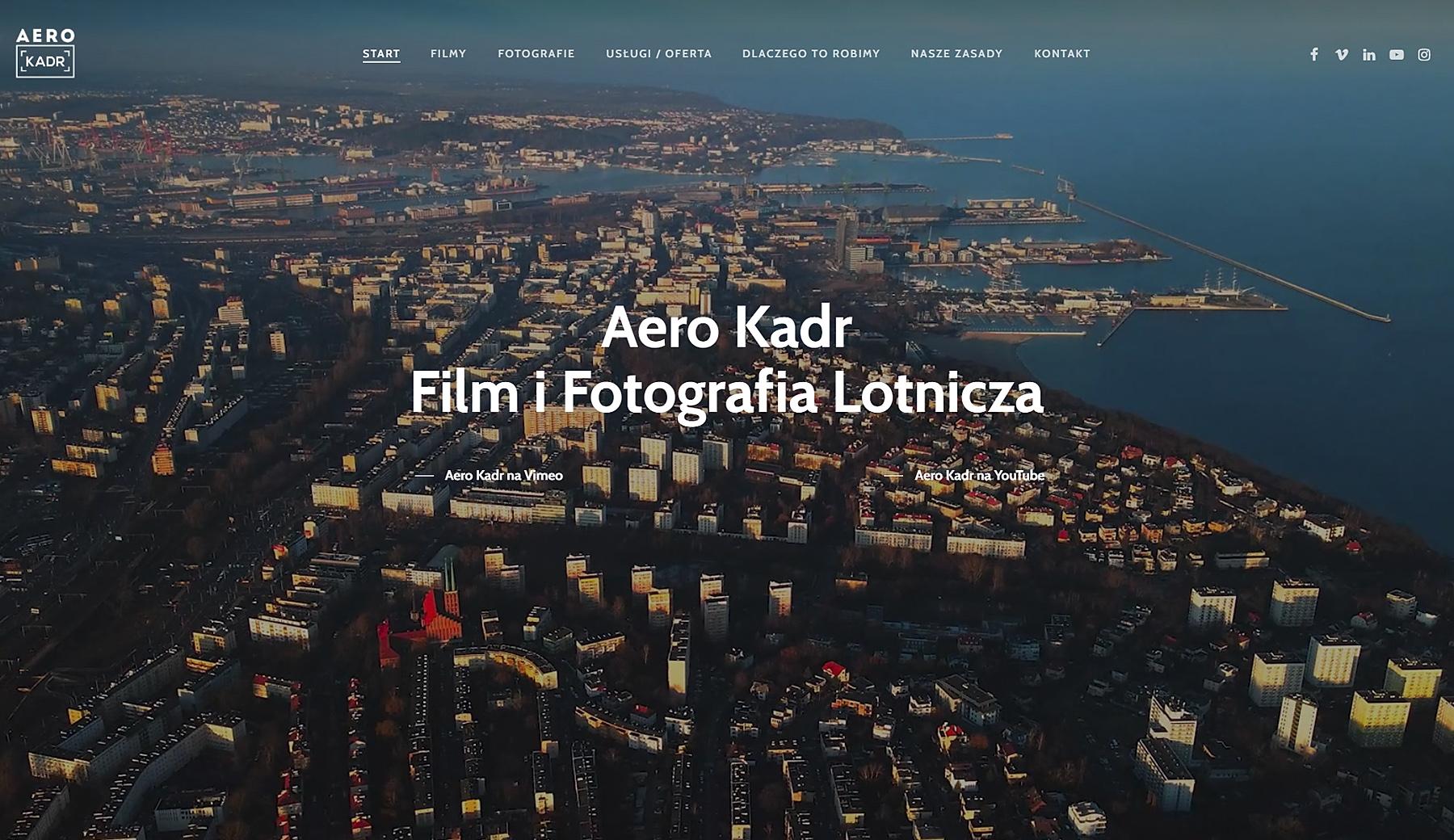 Strona internetowa Aero Kadr