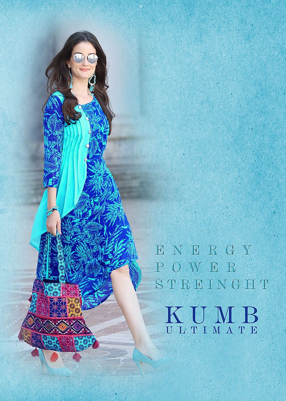 KUMB ULTIMATE beautiful catalogue having designer concept of Print in combo of Traditional western fashion…..