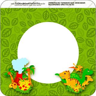 Banderines  de Fiesta de Dinosaurios para imprimir gratis.