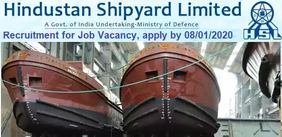 Hindustan Shipyard Jobs Vacancy Recruitment 2020-21