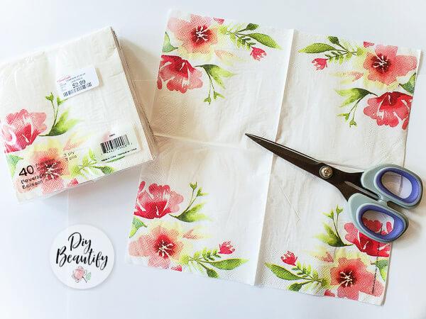 pink floral napkins