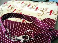 custom made polka dots and birds diaper clutch   http://panpancrafts.blogspot.de/