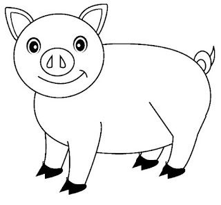 Printable Pig Images For Coloring Free