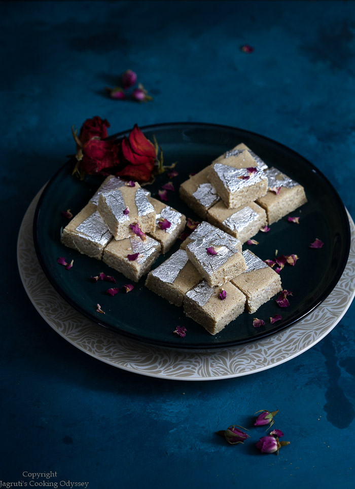 Cashew fudge known as kaju katli
