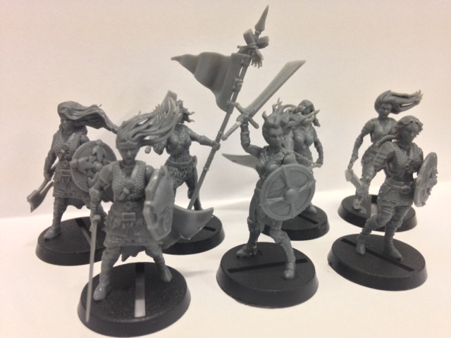 Shieldwolf Miniatures: Plastic Fantasy Shieldmaidens and Rangers