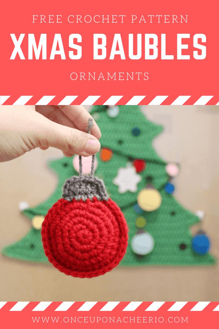 Flatland Christmas Bauble Ornaments FREE Crochet Pattern