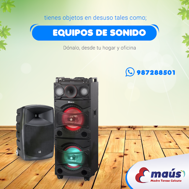 Dona equipos de sonido en desuso en Lima