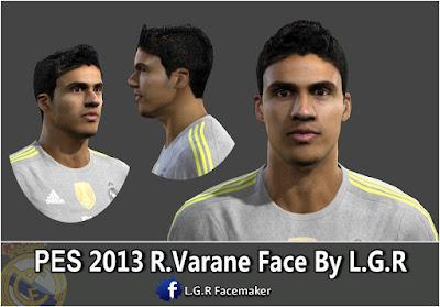 PES 2013 R.Varane Face By L.G.R
