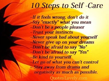 Ten steps to self-care