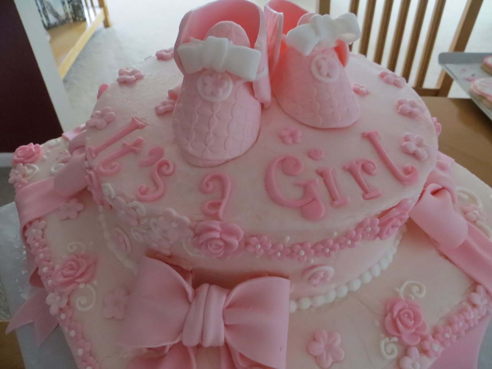 Cakes and more baby shower cake it 39 s a girl for It s a girl dekoration