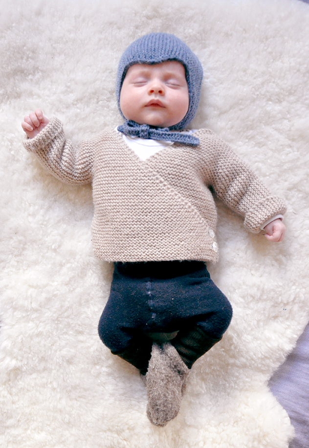 baby cardigan – free knitting pattern
