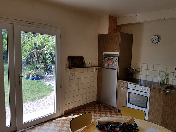 E-design project: Small kitchen design by Eleni Psyllaki of My Paradissi (Before photo)