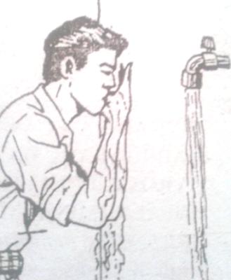 Berkumur kumur soraya membersihkan gigi