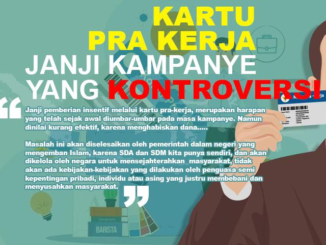 Kartu Pra Kerja, Janji Kampanye yang Kontroversi