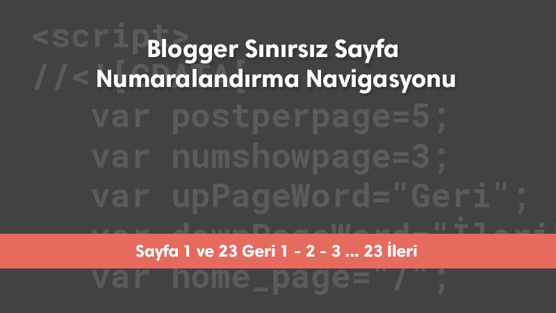 Blogger Sınırsız Sayfa Numaralandırma Navigasyonu