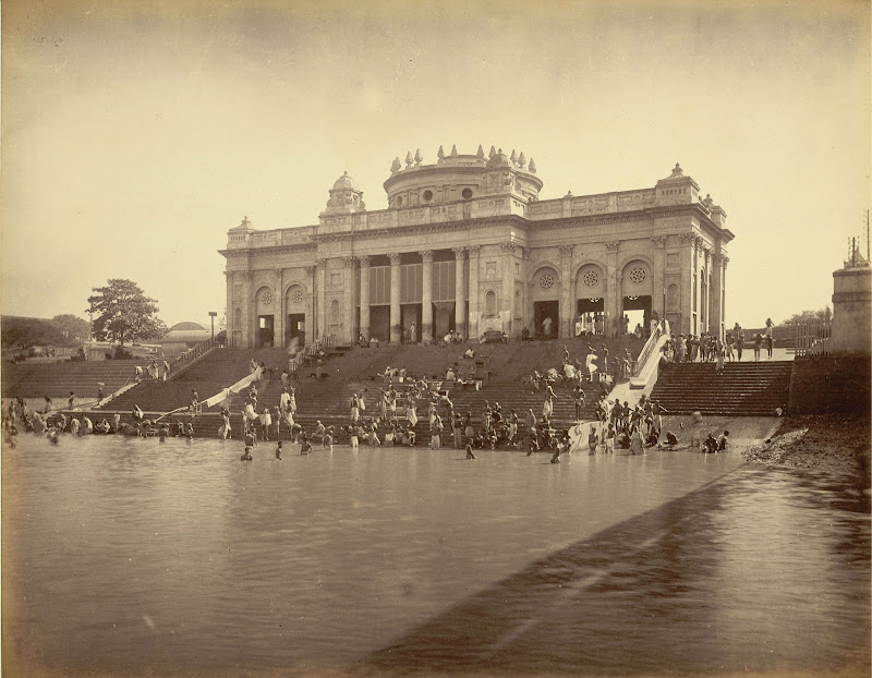 Jagannath Ghat on the Hooghly River, Calcutta (Kolkata) 1885