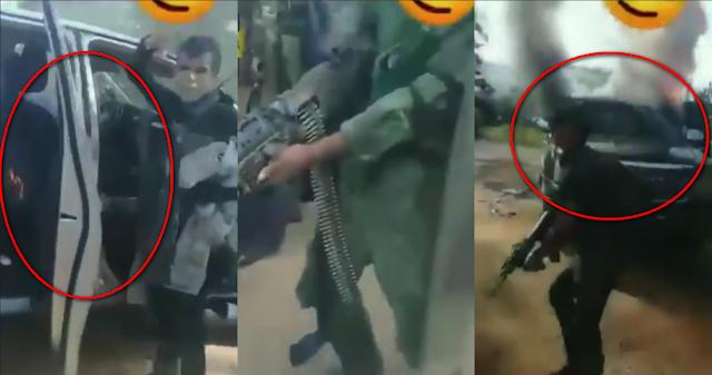 """VIDEO. -""""¡Murieron los perros!"""", Encapuchados celebran calcinando trocas y robando armas después de fuerte topon en Coyuca, Guerrero """"Y no nos vamos hijos de su P..ta Madre"""""""