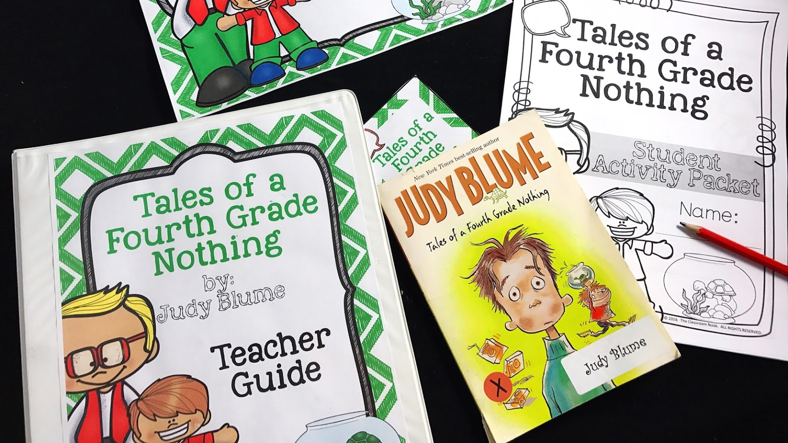 Check out this entire novel unit for teaching Tales of a Fourth Grade Nothing - google classroom compatible and standards aligned