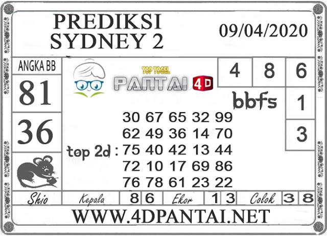 PREDIKSI TOGEL SYDNEY 2 PANTAI4D 09 APRIL 2020