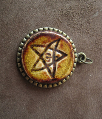 Propnomicon elder sign pendant polish artist vlodar brings us this elder sign pendant featuring a fired ceramic sigil aloadofball Choice Image