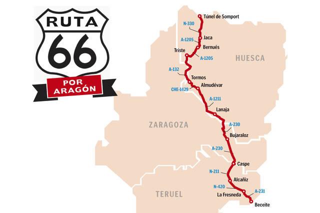 Ruta 66. moteros. Aragón, Route 66, motos, motocicletas, motoristas, Heraldo