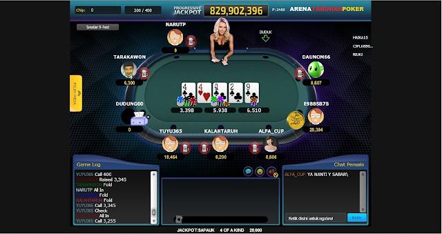 arena Cara Bermain Poker Online
