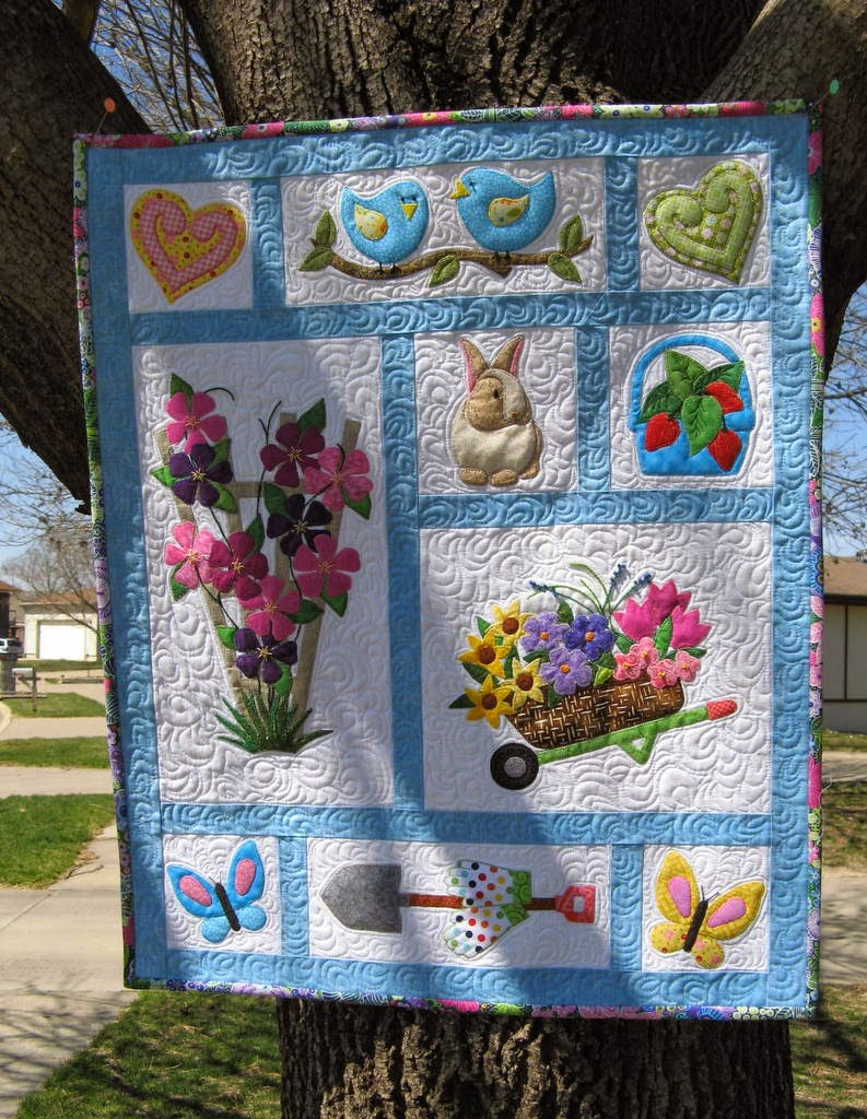 Stitching With 2 Strings A Finished Wall Hanging