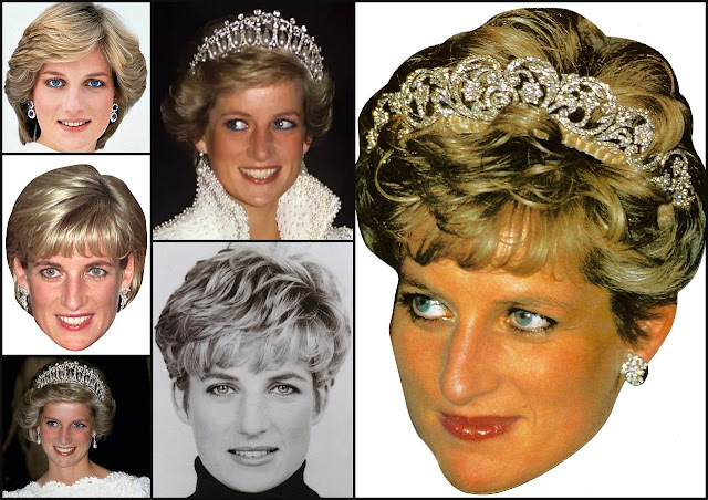 Princes Lady Diana Free Printable Masks.