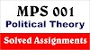 IGNOU MPS 001 Political Theory Solved Assignment 2020-21
