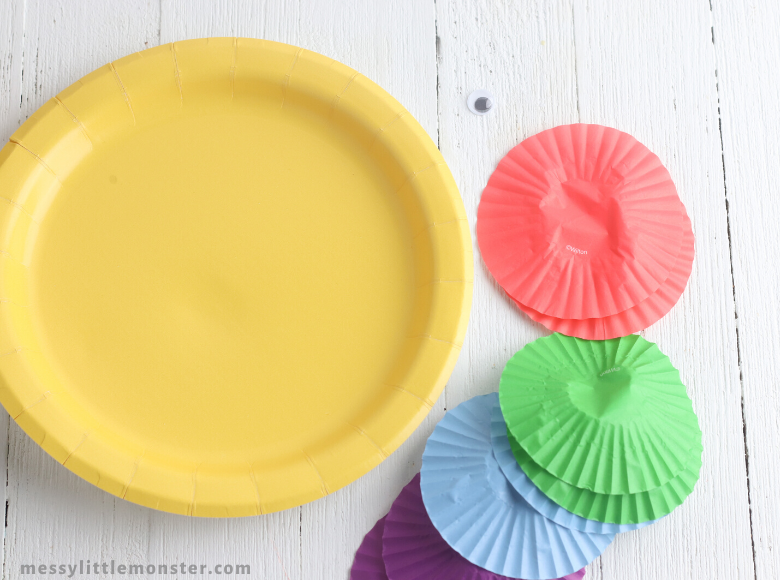 paper plate fish craft supplies