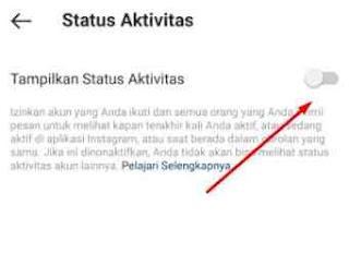 Cara Mematikan Status Aktif di IG