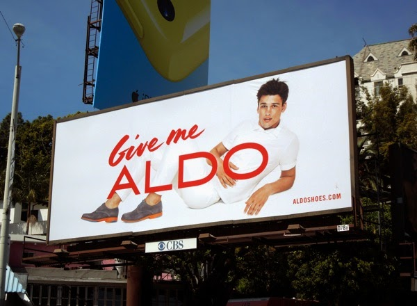 Give me Aldo male model billboard April 2014