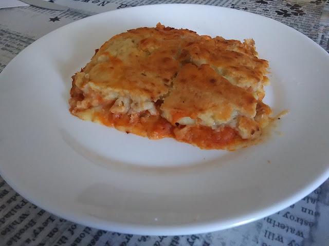 Pastel De Puré De Patata, Pisto Y Pescado Blanco