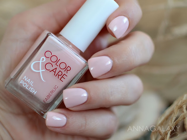 Лак для ногтей Faberlic Color and Care 7788 плюшевый розовый на ногтях
