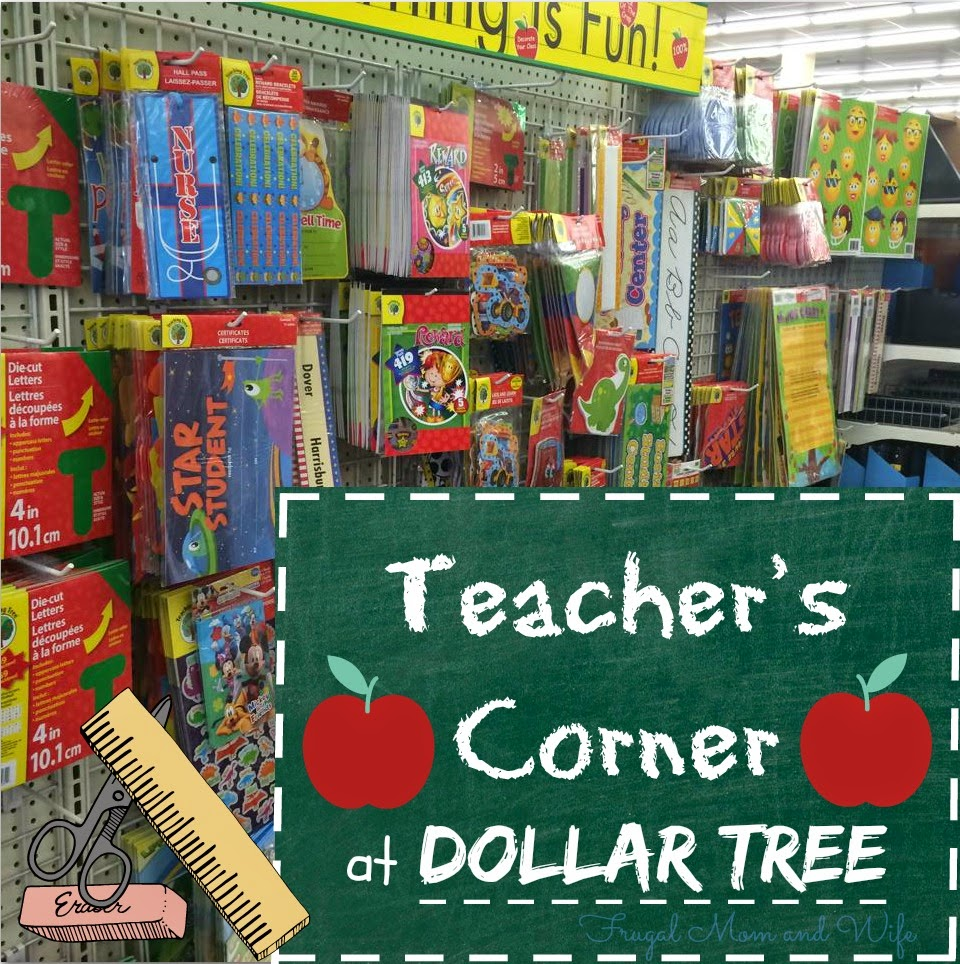 Frugal Mom And Wife: Teacher's Corner At Dollar Tree