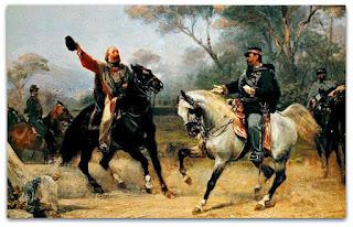 'Encontro de Garibaldi e Vítor Emanuel II em Teano' - Sebastiano de Albertis (1870)