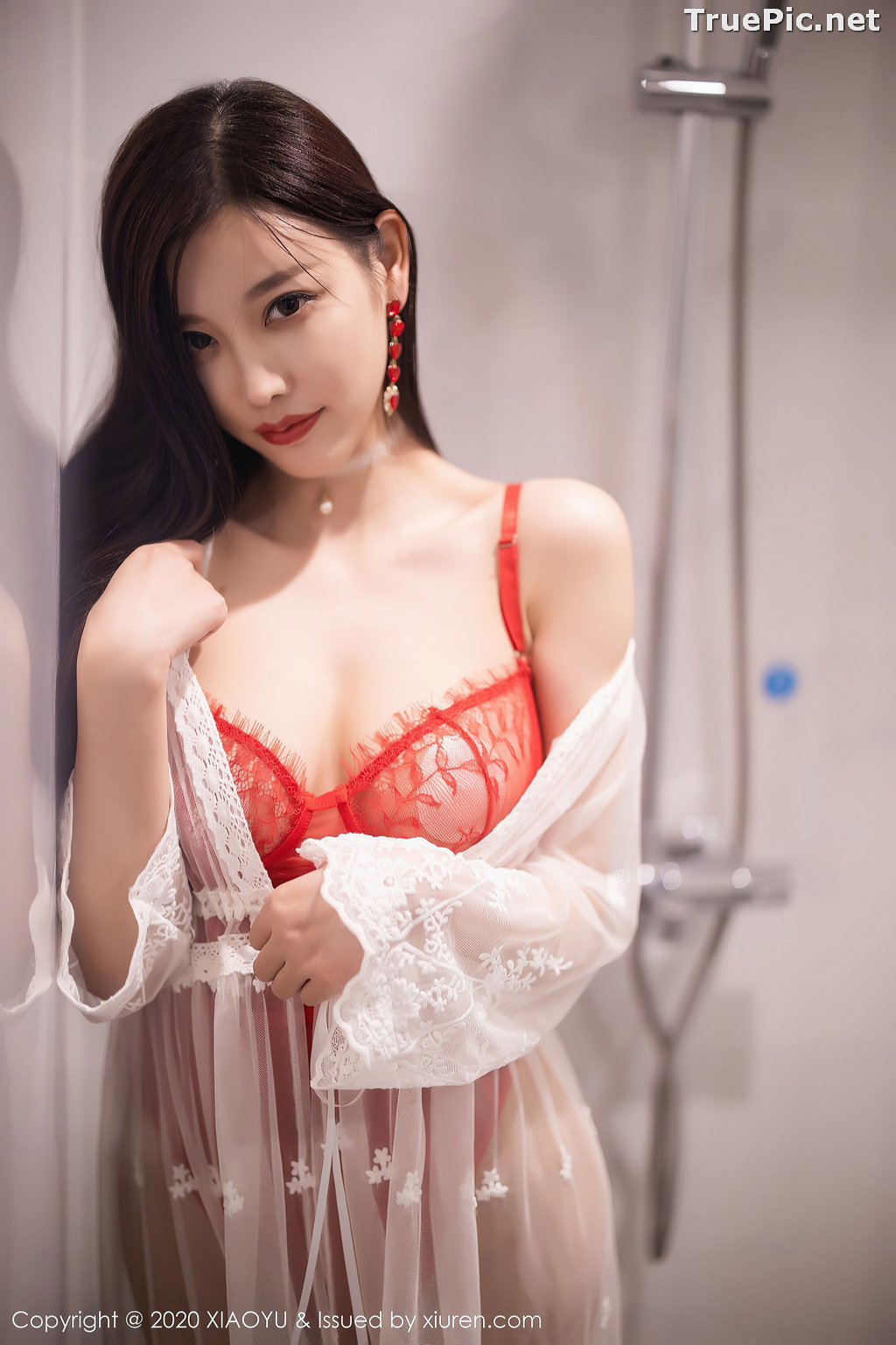 Image XiaoYu Vol.413 - Chinese Model - Yang Chen Chen (杨晨晨sugar)- Red Crystal-clear Lingerie - TruePic.net - Picture-51
