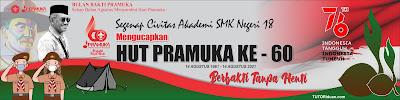 Banner HUT Pramuka Ke 60 PNG