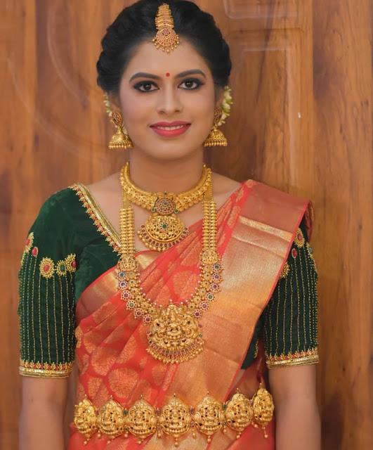 Bride in Astalaxmi Vaddanam
