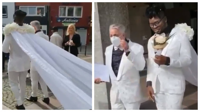 Nigerian bride and his Husband legally gets married (Video)