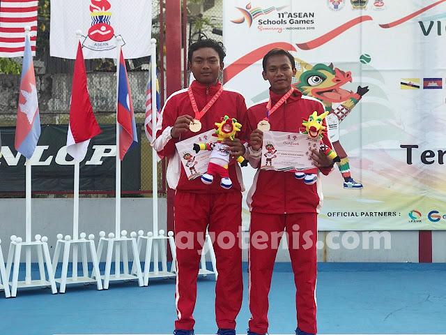 Tenis ASEAN Schools Games 2019: Ari/Ali Raih Perak