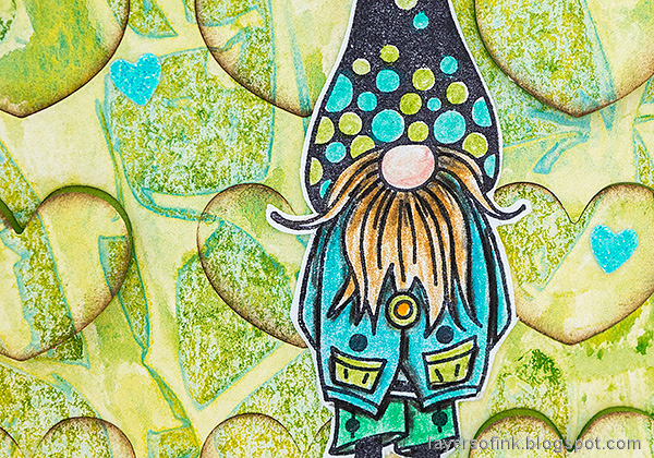 Layers of ink - Heart Background Card Tutorial by Anna-Karin Evaldsson. Color with Faber-Castell Polychromos.