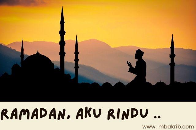 aku rindu ramadan