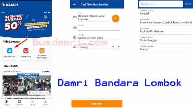 Harga tiket dan jadwal damri bandara lombok Mataram