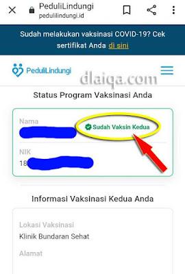 status vaksinasi