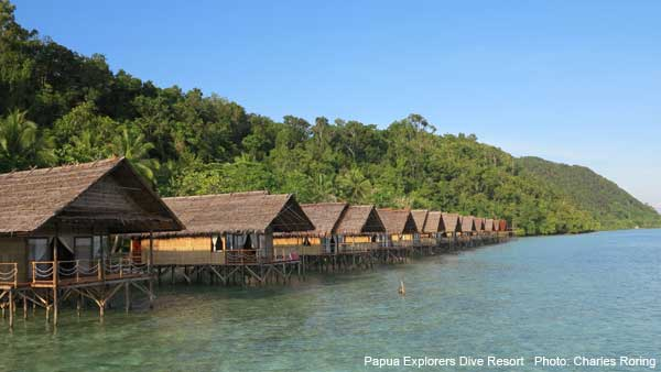 Eco friendly bungalows for visitors who stay in Raja Ampat