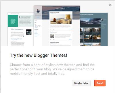 Blogspot tampil dengan template baru dan mesra mobile