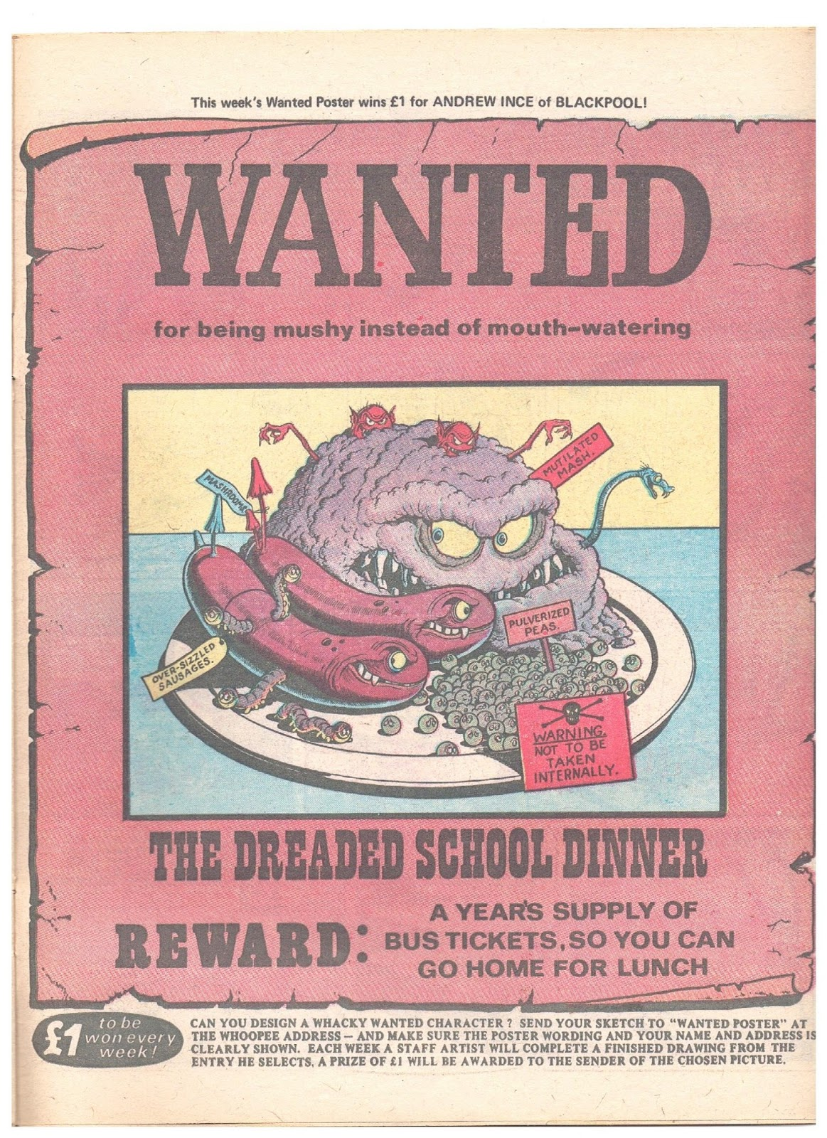 how to make a wanted poster cartoon for school