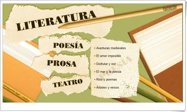 """""""Literatura"""" (Aplicación interactiva de Lengua Castellana de Secundaria)"""